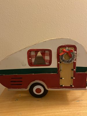 Tin Christmas Camper Trailer for Sale in Raleigh, NC