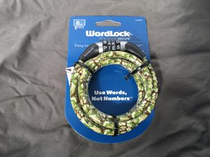Wordlock Word Combination Lock 5 FT Kid Friendly CAMO Colored Flexi Steel Cable for Sale in New Port Richey, FL