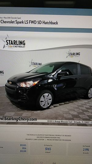 New 2018 Chevy Spark LS Hatchback for Sale in Orlando, FL