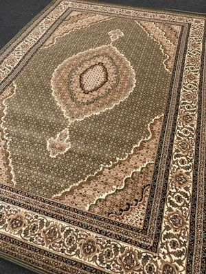Brand new area rug size 8x11 nice green carpet Persian Tabriz design carpets and rugs for Sale in Fairfax, VA
