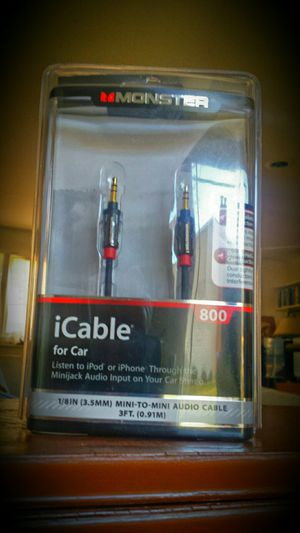 Monster Cable 7' Icable 800 Minijack To Car Stereo Cable For Ipad, Iphone, Ipod & Mp3 Players - 133208 for Sale in Fairfax, VA