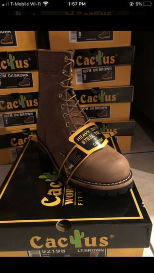Cactus Work Boots with steel toe for Sale in San Leandro, CA