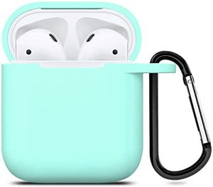 AirPods Silicone Case 1& 2 + Keychain Protective Case Color Sky Blue for Sale in Burlington, VT