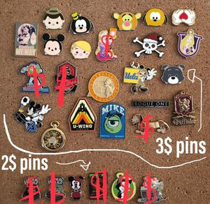 Disney and universal trading pins all authentic and tradable two prices FIRM for Sale in Vernon, CA