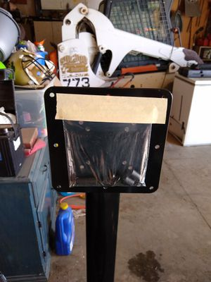 TV stand with dark glass for Sale in Elk River, MN