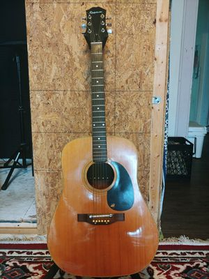 1970s Epiphone Acoustic Guitar with Case for Sale in Springfield, MA