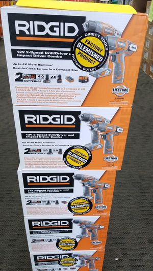 Ridgid 12v drill/impact kit (2 batteries and charger) for Sale in San Marcos, TX