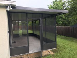 Aluminum Roof panel insulated roof door terrace porch pool screen for Sale in Kissimmee, FL