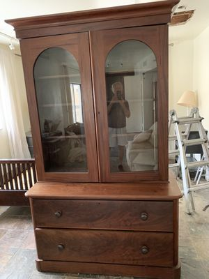 Huge True Antique solid wood cabinet. Circa 8' high for Sale in Miami, FL