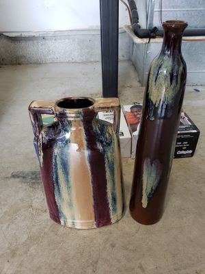 "Matching decorative vases 12"" & 16"" for Sale in Portland, OR"