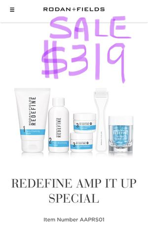 *NEW SEALED* Rodan and Fields REDEFINE AND AMP MD SYSTEM gift pack for Sale in Arcadia, CA