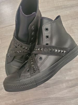 Chuck Taylor All Star Converse Leather High Tops for Sale in Lacey, WA