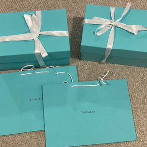 Tiffany & Co Two 2 Empty Box And Retail Bag for Sale in Portland, OR