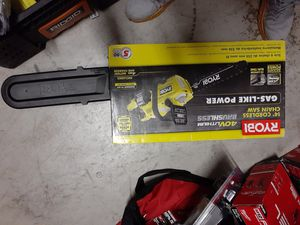Brand new Ryobi 40v chainsaw kit with big battery charger for Sale in Fort Lauderdale, FL