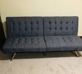 Gray futon for Sale in Laurel,  MD