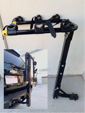 New in box 3 Bikes Carrier Rack standard hitch receiver mount travel holds 3 road mountain beach cruiser bicycle for Sale in West Covina, CA