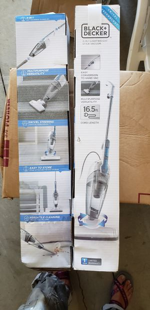 """NEW"" BLACK & DECKER 3-IN-1 LIGHTWEIGHT STICK VACUUM for Sale in Redwood City, CA"