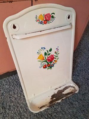 Awesome Vintage French enamelware floral ladle rack holder for Sale in Glendale, AZ