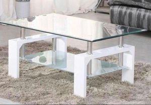 Brand New! Modern White Glass Top Coffee Table for Sale in Orlando, FL
