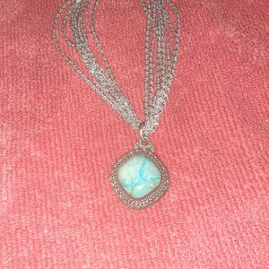 925 17 Inch Blue Turquoise Pendant Necklace for Sale in Phoenix, AZ