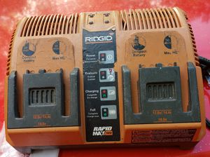 RIGID dual rapid battery charger for Sale in Gardner, MA