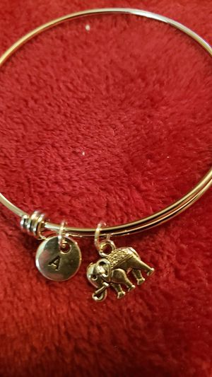 Elephant bracelet with initial A for Sale in Houston, TX