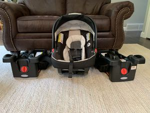 Graco Fast Action Fold Sport Travel System with Click Connect Snugride 35 car seat with two bases, color Pierce for Sale in Snohomish, WA