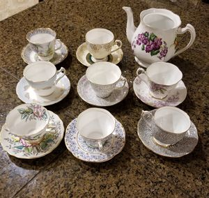 Mixed lot Bone China Tea Cups Rosina,Royal Standard etc for Sale in Fullerton, CA