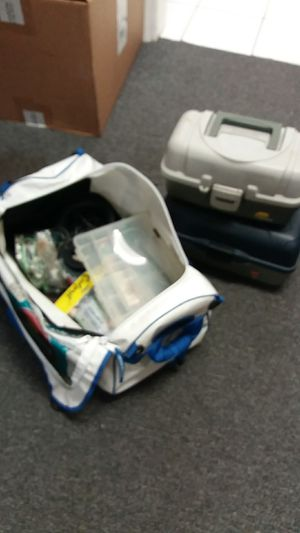 Fishing tackle boxes & bag & lures for Sale in Hollywood, FL