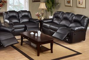 2PC set Black Sofa+Loveseat Recliners for Sale in Hialeah, FL