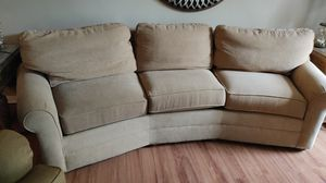 sofa, curved from Thomasville. No tears. Non smoker no pets. No covid-19 home for Sale in St. Louis, MO