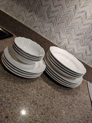 White dinnerware set for Sale in Corona, CA