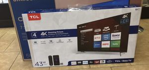 "43"" TcL roku smart 4K led uhd hdr tv for Sale in San Diego, CA"