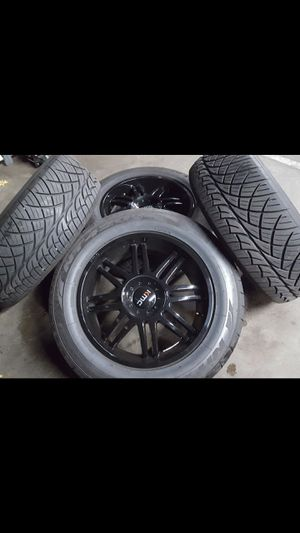 Like New Set of20s kmc wheels on Nitto Tires for Sale in Tacoma, WA