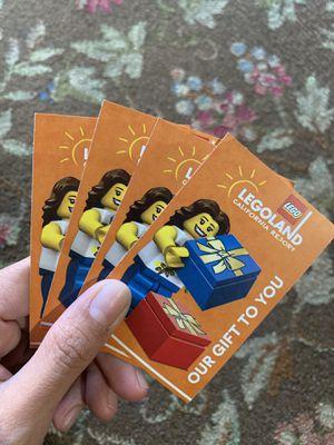 Legoland + Sea Life Hopper Tickets for Sale in Hayward, CA