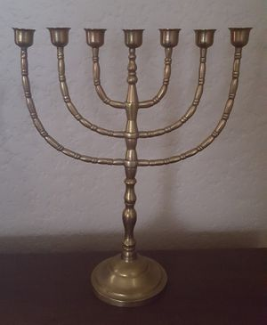 Brass Menorrah Jewish Candelabra for Sale in Tacoma, WA