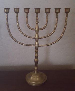 Brass Menorrah Jewish Candelabra for Sale in Tacoma, WA