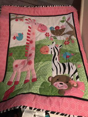 Wildlife crib bedding 4pc set for Sale in Wilmington, DE