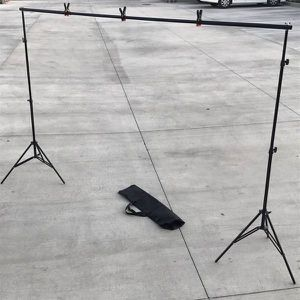 New in box max 10x7 Feet height and width Adjustable Backdrop Frame Kit Banner Stand Includes 3 Clamps and Carrying Bag for Sale in El Monte, CA