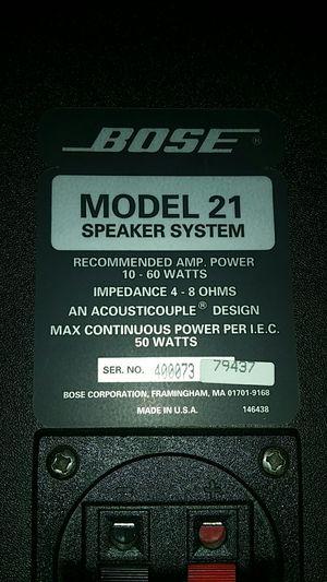 BOSE - Model 21 Acousticouple Bookshelf Speakers 60W 4-8 ohms for Sale in Modesto, CA