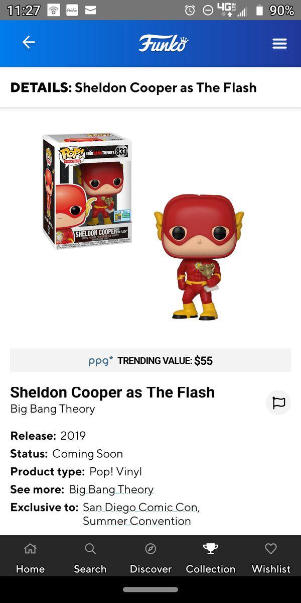 Funko pop! Sheldon Cooper as the Flash