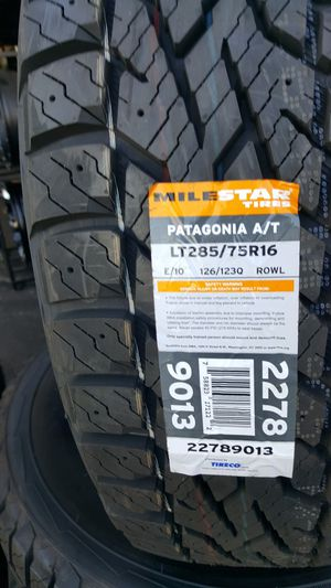285 75 R16 LT ALL TERRAIN BRAND NEW 10 PLY EXTRAS LOAD RANGE E $149 EACH for Sale in Anaheim, CA