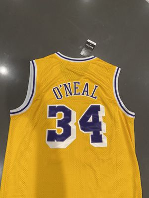 Shaq Lakers Home Throwback Jersey Sizes. XL Xxl. Check out the page for the hottest and rarest jerseys on offerup. ship/deliver/pickup available 📦🍾🚚🚨🚨 for Sale in Los Angeles, CA