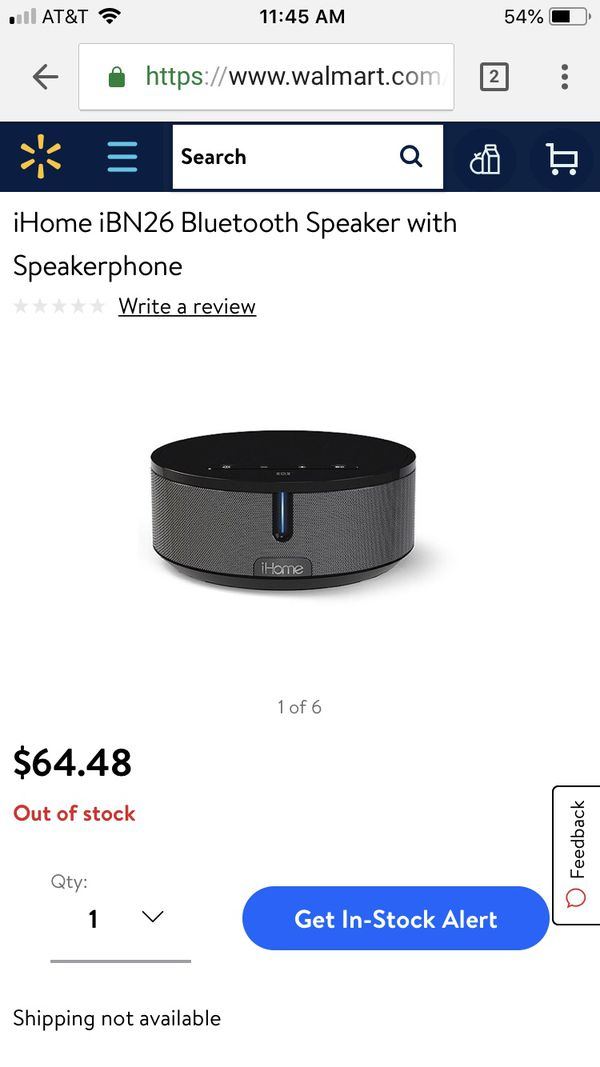 iHome Bluetooth Speaker - Loud and clear sound!