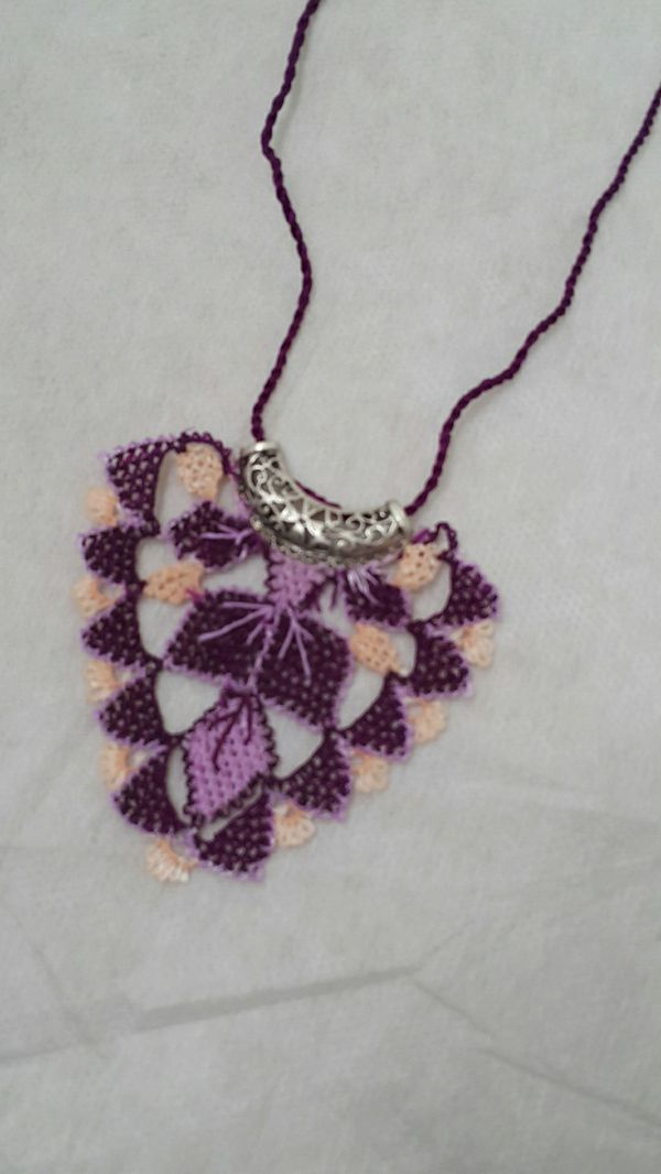 Hand knit traditional neclace