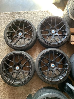 Audi A3 custom 19 inch Morr wheels black with tires for Sale in Glendale, CA