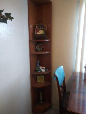 Solid oak corner shelf for Sale in Hayward, CA