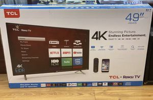 "49"" TCL roku smart 4K led hdr tv for Sale in Chula Vista, CA"
