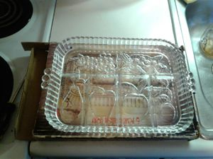Vintage Indian glass V part Crystal relish tray for Sale in Tacoma, WA