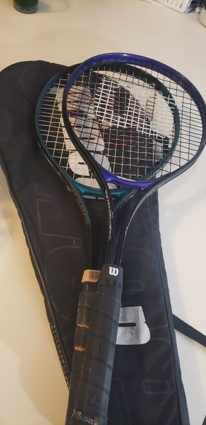 Wilson tennis rackets and a case for Sale in Oklahoma City, OK